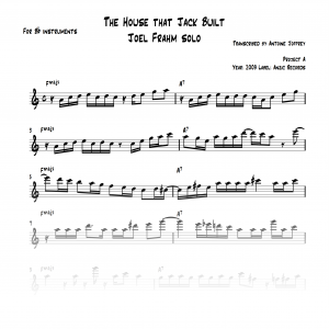 The House that Jack Built Joel Frahm solo transcription