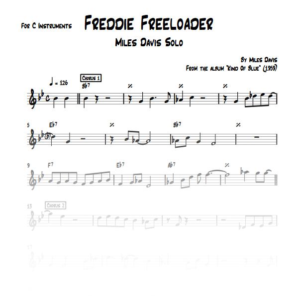 Freddie Freeloader - Miles Davis solo
