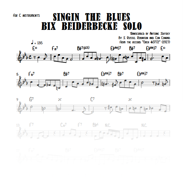 Singin The Blues - Bix Beiderbecke solo