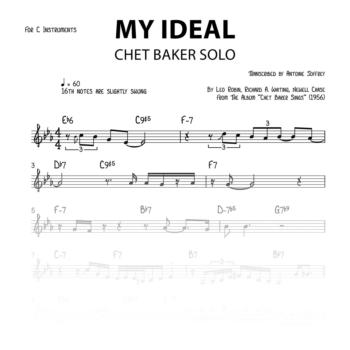 My Ideal - Chet Baker solo